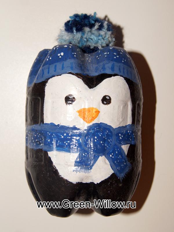 Пингвин поделки из пластиковых бутылок 19