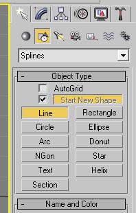 3ds max - панель Create > Shape
