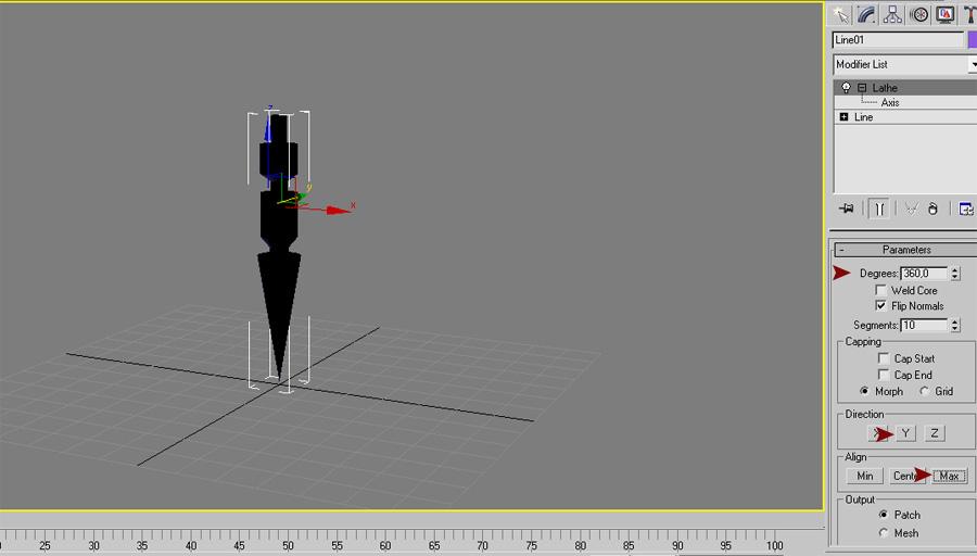 3ds max - сгенерированный объект